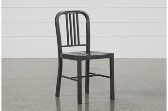 Nautical Gun Metal Side Chair