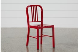 Nautical Red Side Chair