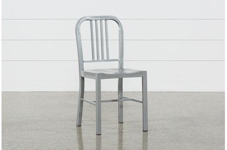Nautical Silver Side Chair