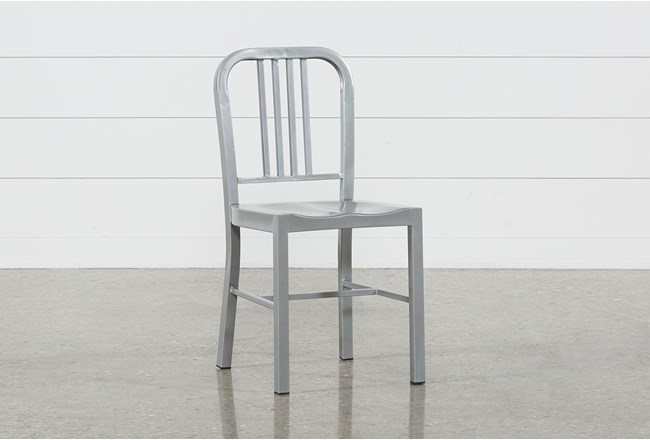 Nautical Silver Side Chair - 360