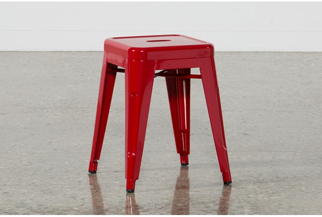 Nautical Red 18 Inch Stool - 360
