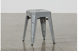 Nautical Silver 18 Inch Stool