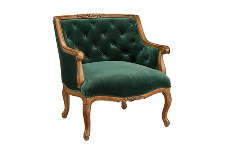 Magnolia Home Bloom Emerald Accent Chair By Joanna Gaines
