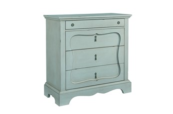 Magnolia Home Silhouette French Blue 4-Drawer Chest By Joanna Gaines