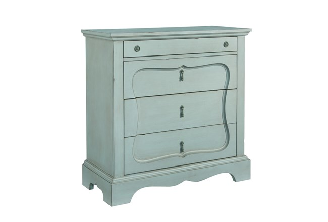 Magnolia Home Silhouette French Blue 4-Drawer Chest By Joanna Gaines - 360