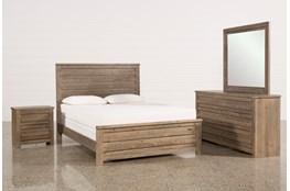Sawyer Grey Queen 4 Piece Bedroom Set