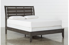 Chad Grey California King Panel Bed
