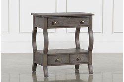 """Candice II 2-Drawer 29"""" Nightstand With USB and Power Outlets"""