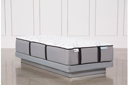 Gel Springs Firm Twin Extra Long Mattress W/Low Profile Foundation