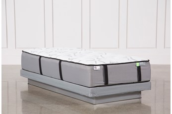 Gel Springs Medium Twin Mattress W/Low Profile Foundation