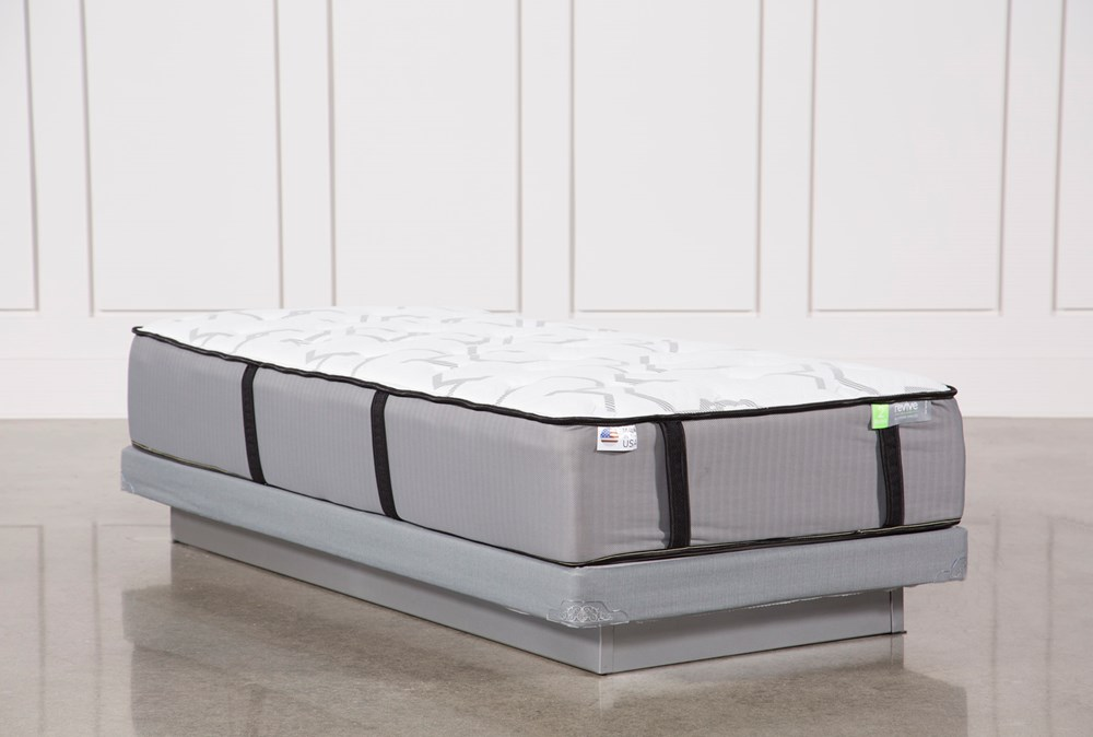 Gel Springs Medium Twin Extra Long Mattress W/Low Profile Foundation