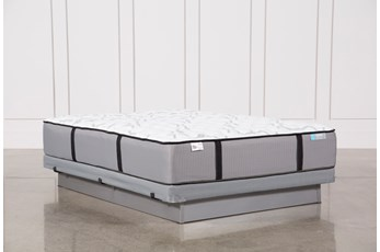 Gel Springs Medium Queen Mattress W/Low Profile Foundation