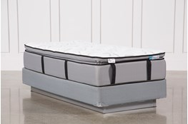 Gel Springs Plush Twin Mattress W/Foundation