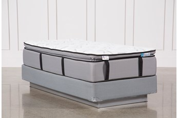 Gel Springs Plush Twin Extra Long Mattress W/Foundation