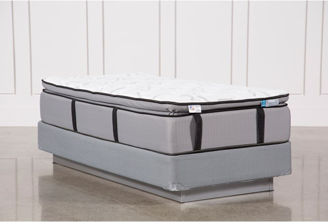 Gel Springs Plush Twin Extra Long Mattress W/Foundation - 360