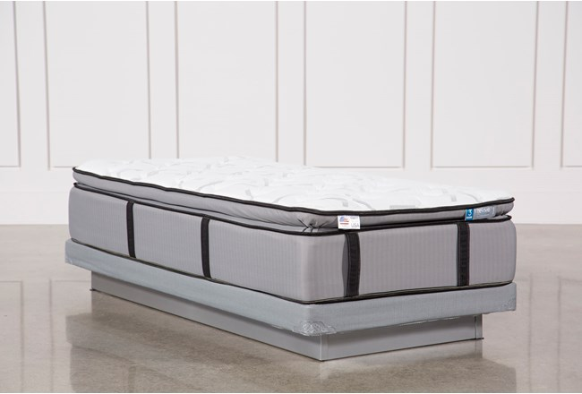 Gel Springs Plush Twin Extra Long Mattress W/Low Profile Foundation - 360