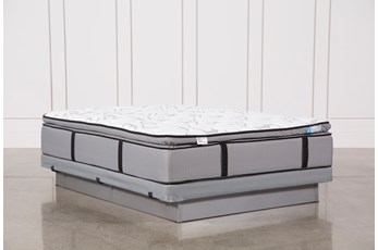 Gel Springs Plush Full Mattress W/Low Profile Foundation