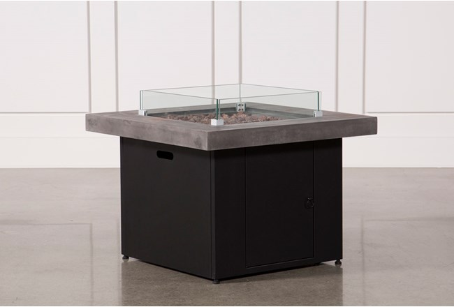 Concrete & Glass Outdoor Firepit  - 360