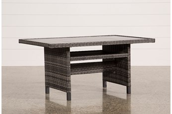 Outdoor Domingo Banquette Dining Table