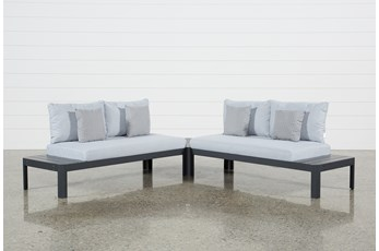Outdoor Andaz 2 Piece Sectional & Cocktail Table