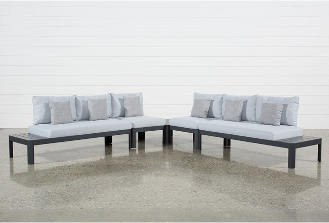Outdoor Andaz 4 Piece Sectional & Cocktail Table - 360