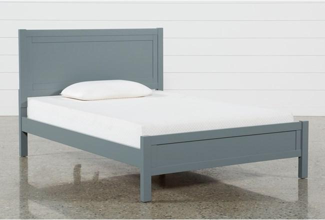 Hayden Grey Full Panel Bed - 360