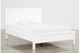 Hayden White Full Panel Bed