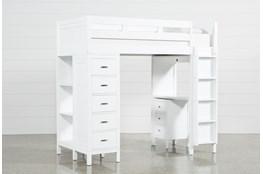 Hayden White Loft Bed