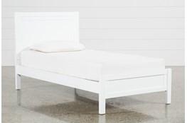 Hayden White Twin Panel Bed