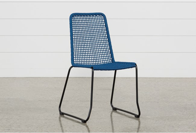 Pilo Blue Side Chair - 360