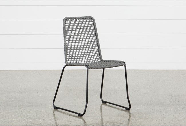 Pilo Grey Side Chair - 360