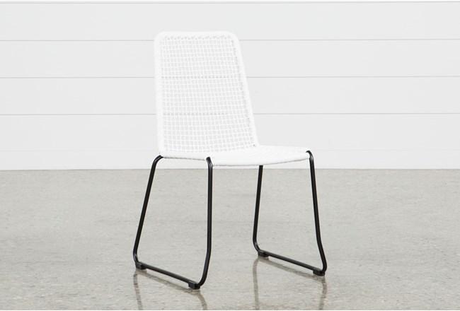 Pilo White Side Chair - 360