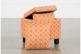 Joss Tangerine Accent Ottoman W/Pillows