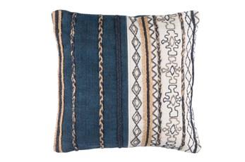Accent Pillow-Raffia Stripe Denim 20X20