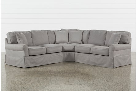 Carlyle Slipcovered 3 Piece Sectional