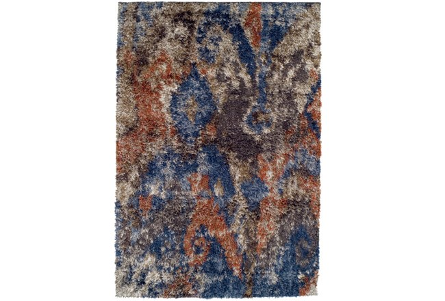 63X91 Rug-Roma Shag Orange/Blue - 360