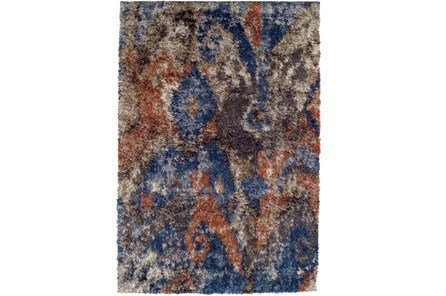 94X127 Rug-Roma Shag Orange/Blue