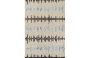 59X84 Rug-Textured Waves Grey/Blue
