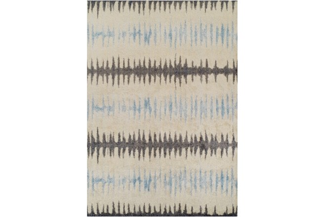 98X120 Rug-Textured Waves Grey/Blue - 360