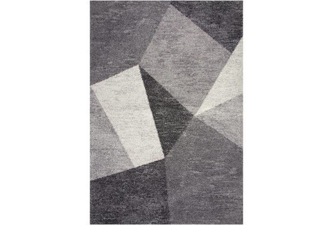 63X90 Rug-Charcoal Facets - 360