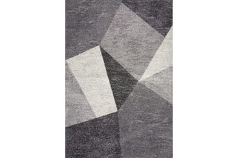 93X126 Rug-Charcoal  Facets