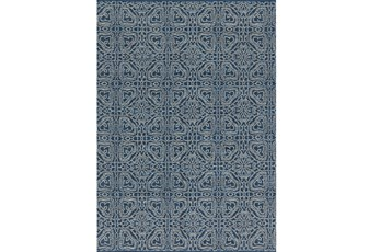93X117 Rug-Magnolia Home Emmie Kay Navy/Cream By Joanna Gaines