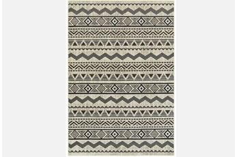 79X114 Rug-Southwest Stripes Charcoal