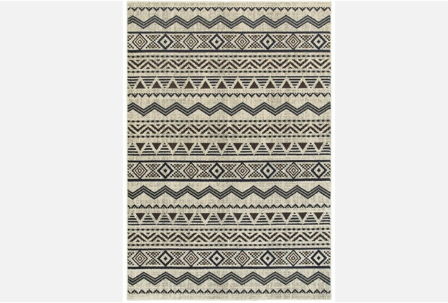 94X130Rug-Southwest Stripes Charcoal - 360