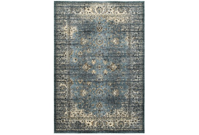 46X65 Rug-Valley Tapestry Blue - 360
