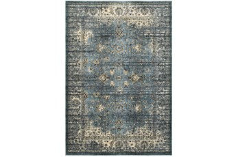 79X114 Rug-Valley Tapestry Blue