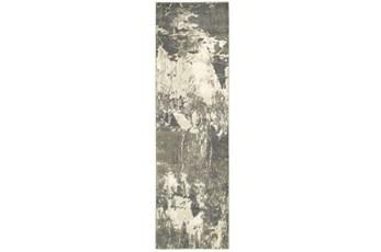 27X90 Rug-Xandra Dark Grey