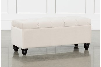 Mariah Velvet Storage Bench