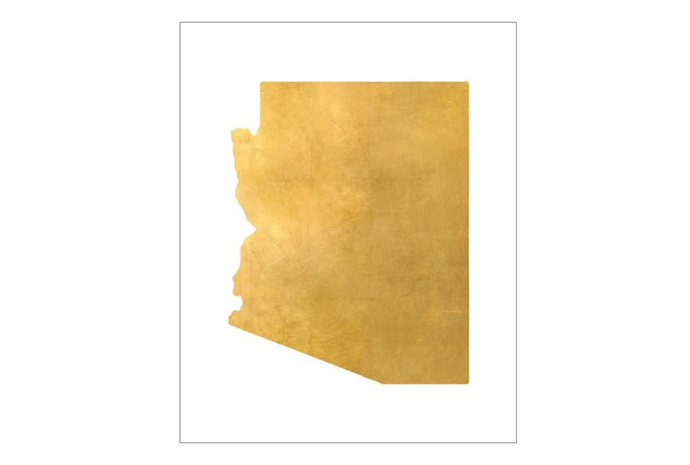 Picture-24X30 Metallic Golden Land Az