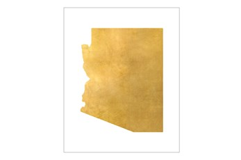 Picture-24X30 Metallic Golden Land Az